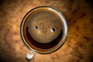 a smiling coffee